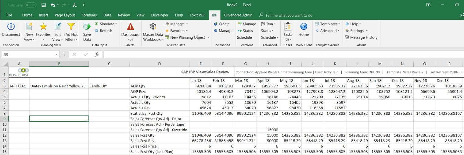 how to let excel add the header for me