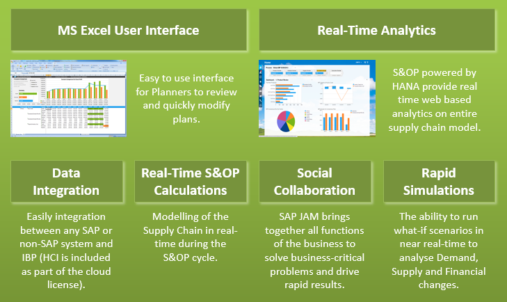 SAP  IBP Sales & Operations features