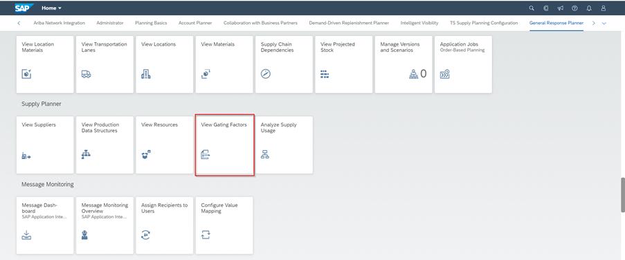 SAP IBP Web UI app