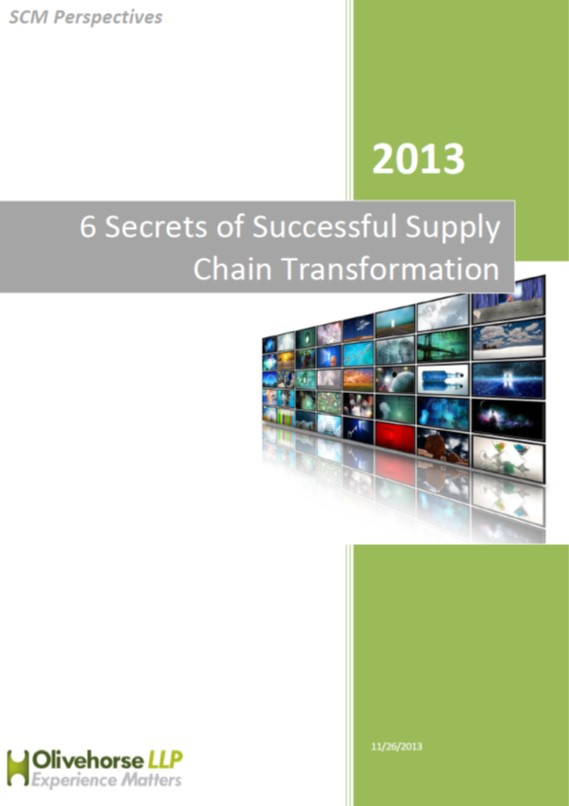 6 Secrets of Successful Supply Chain Transformation Report