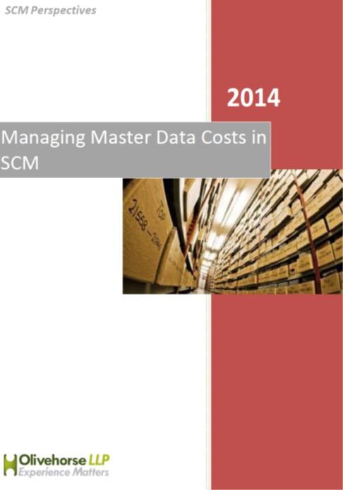 Managing Master Data costs in SCM report
